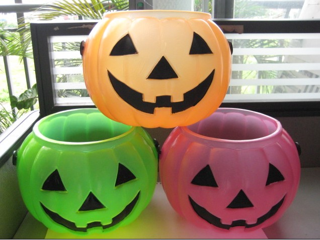 25CM HALLOWEEN CLEAR BUCKET